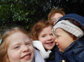 Mommy and Kids selfie