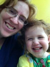 Mommy and Amélie selfie