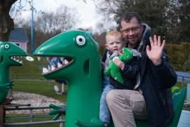 Daddy and Ezra on Mr Dinosaur