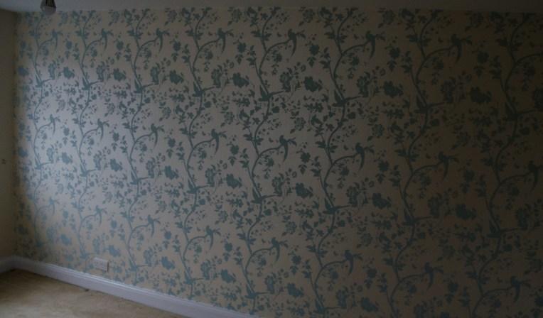 The bedroom wallpaper
