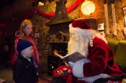 Éowyn and Ezra with Santa