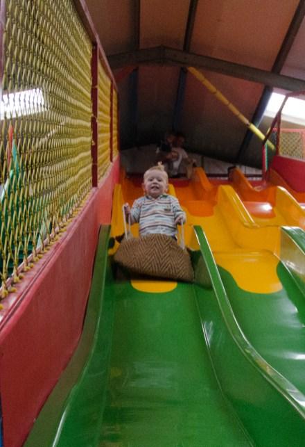 Ezra on the slide