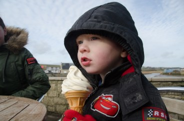 Never too cold for an ice-cream