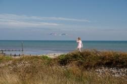 Strolling along the beach