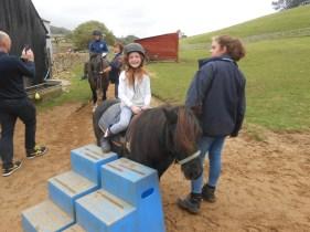 Amélie on a pony