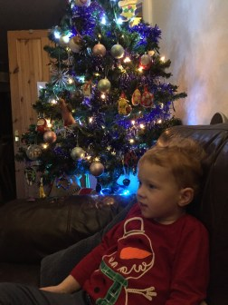 Watching Christmas telly