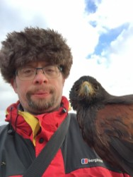 Daddy with a hawk