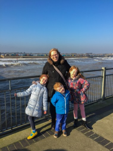 Mommy and the Baguettes on Southwold Pier