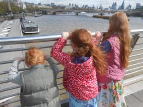 The Baguettes survey the London skyline