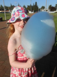 Éowyn with her candyfloss