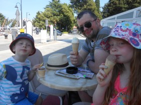 Enjoying a gelato