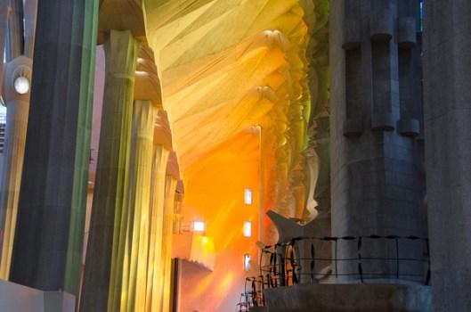The light through the windows