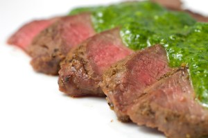 grilled-flat-iron-steak-with-chimichurri-sauce