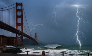 Lightning Storm - Golden Gate Bridge