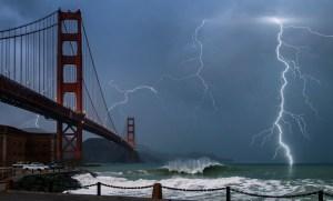 Lightning Storm - Golden Gate Bridge