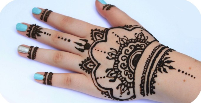 motif henna simple cantik