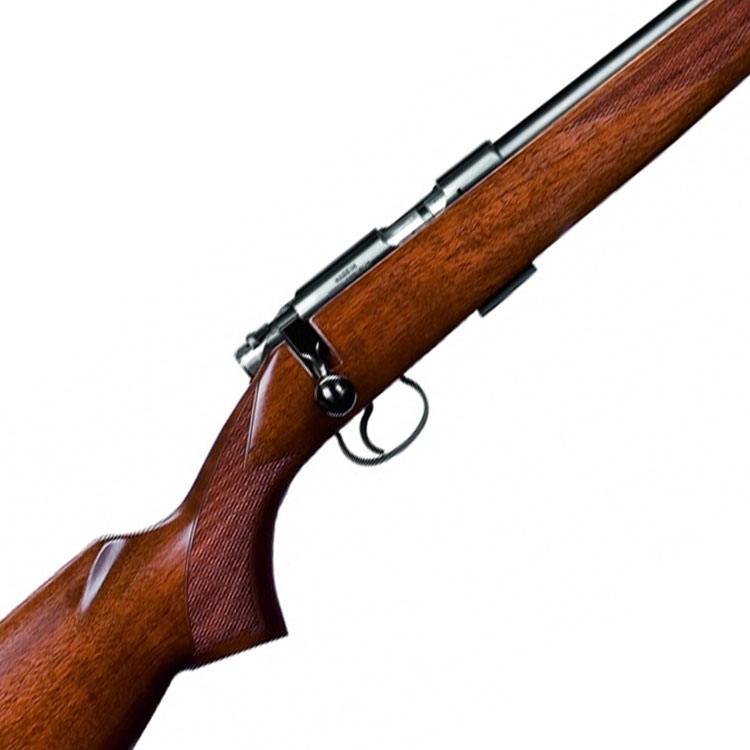 CZ 455 R/H American  22lr 16″ screw cut with Walnut stock