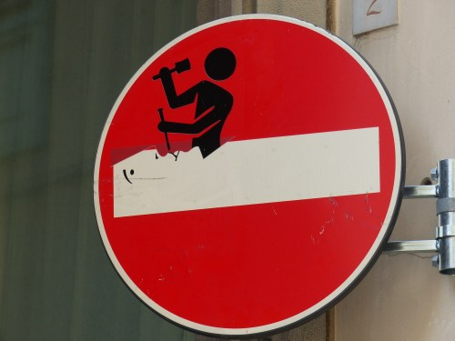 A sign in Florence