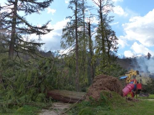 Damage at La Villa