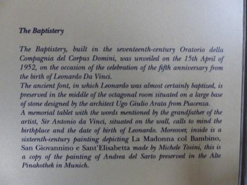 Vinci baptistery