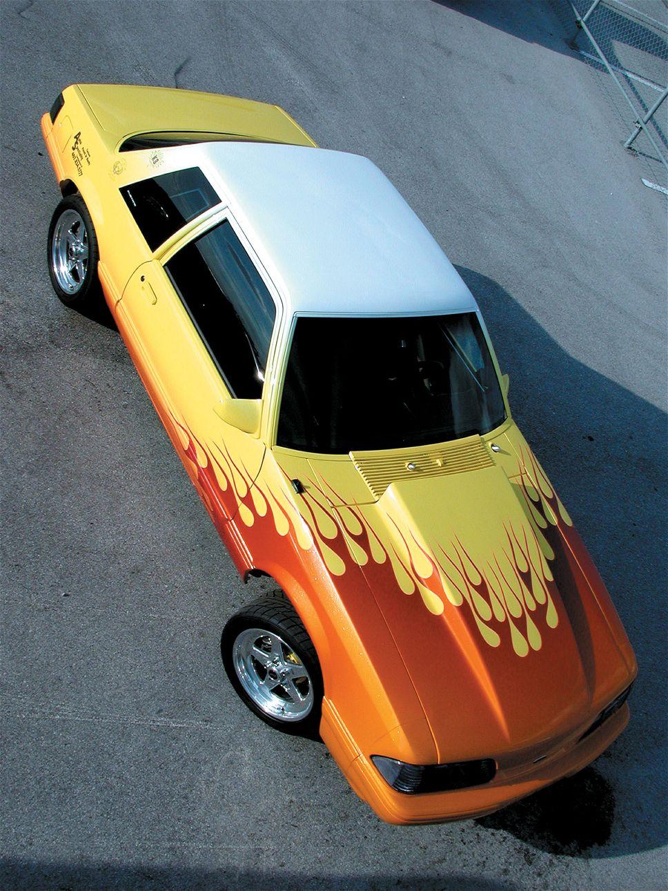 Mustang Paint Jobs : mustang, paint, Flames, Original, Flame, Stencil, Paint