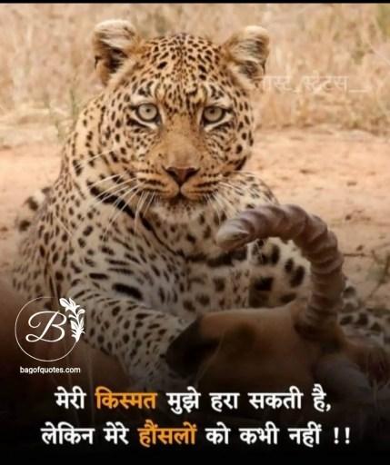 Life motivational quotes in hindi इंसान की किस्मत भले ही उसे हरा सकती है लेकिन उसके बुलंद हौसलों को कभी नहीं हरा सकती