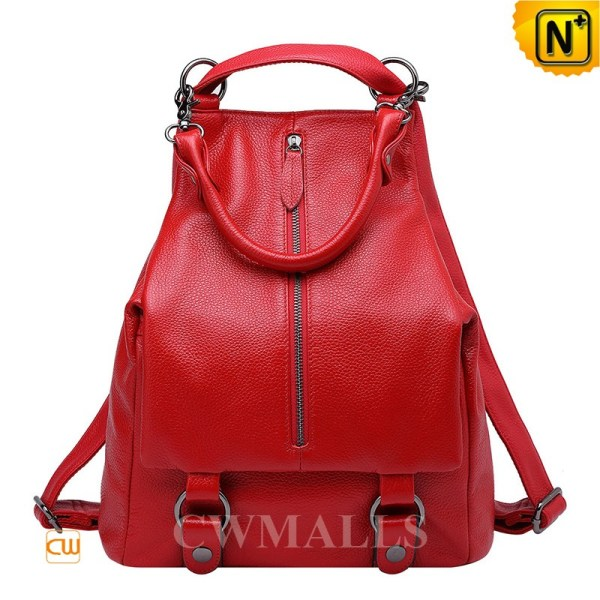 Cwmalls Convertible Leather Backpack Purses Cw206203