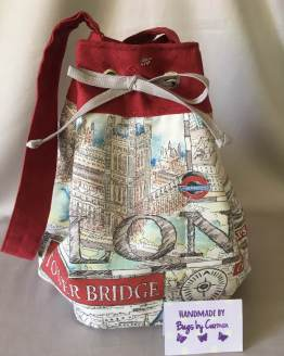 London Drawstring bag