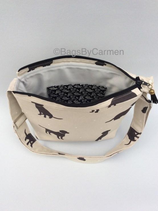 Black and White_Dog_Handmade_Shoulder Bag_Back