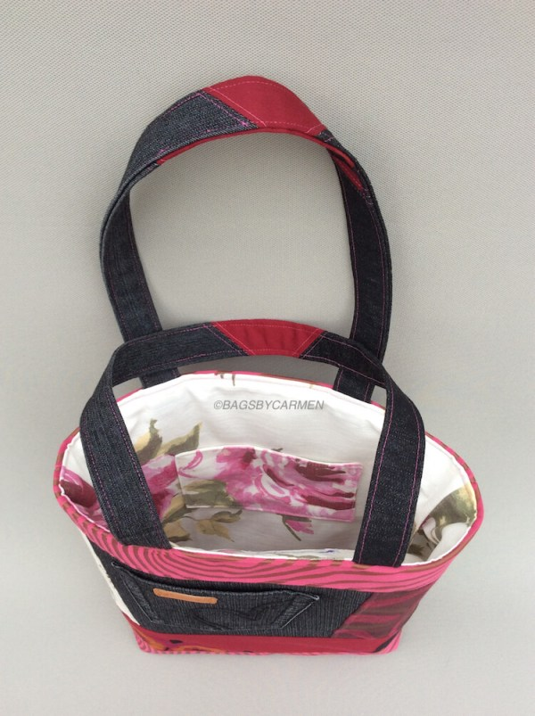 Pink Patchwork Handmade Tote Bag_Top