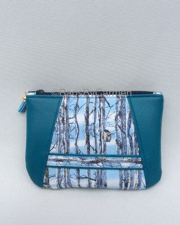 Blue Bird Box Handmade Clutch Bag_Front