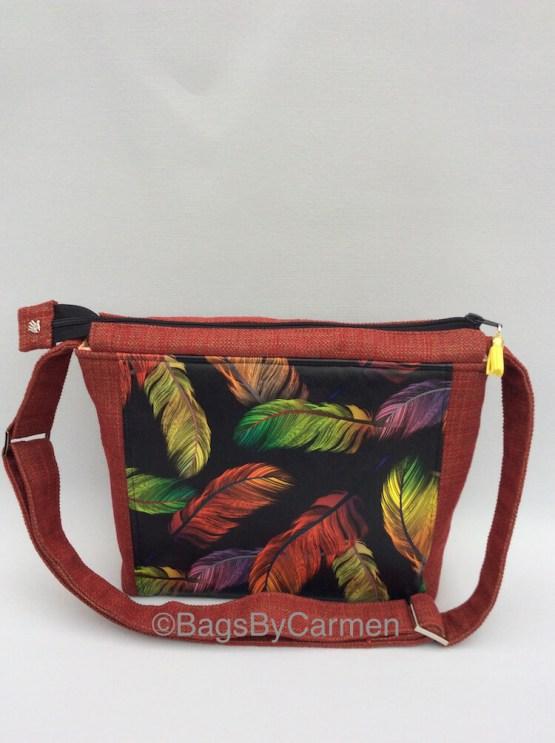 Feathers Handmade Shoulder Bag_Front