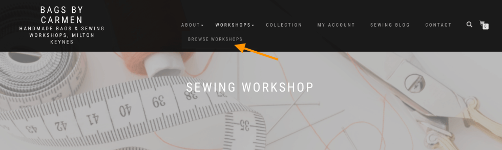 Sewing Workshop Browse button