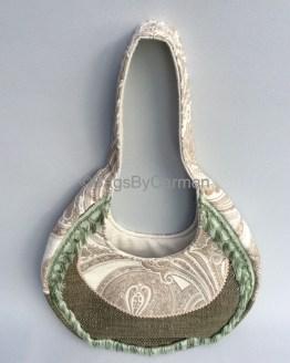 Tote Bag – Green Tassel_Front