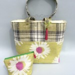 Tote Bag - Green Check & Daisy Print_Bundle