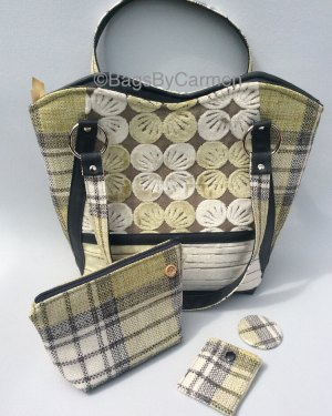 Handbag Green Pattern