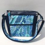 Shoulder Bag - Blue Feather_Front