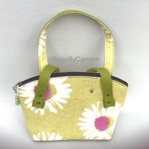 Handbag – Green Daisy
