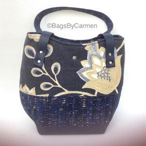 Handbag - Blue Floral_Front