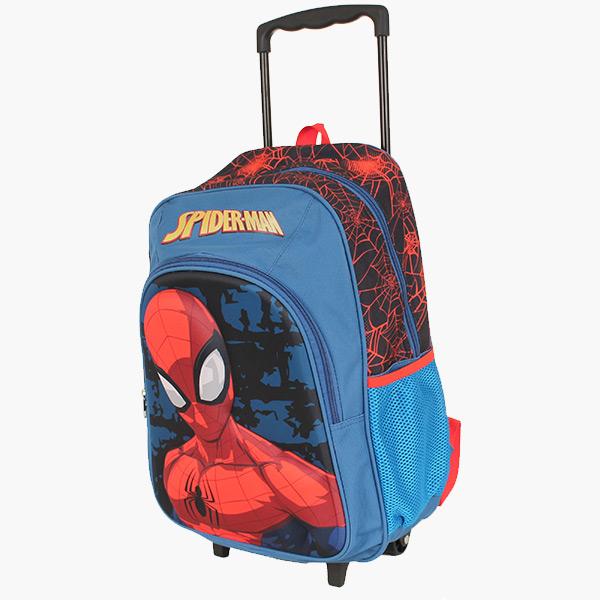 Kids Luggage - Spiderman Trolley Backpack