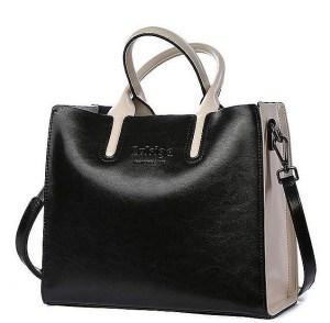Купить Сумка-тоут женская черно-белого цвета кожаная Bvlriga, Casual Tote designer фото цена