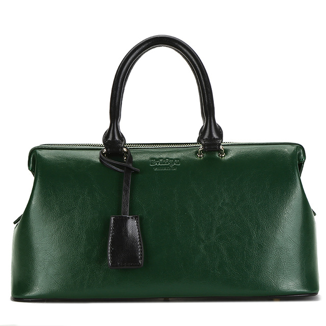1078c905cd61 Сумка-саквояж женская зеленая кожаная Bvlriga, England style | BAGS ...