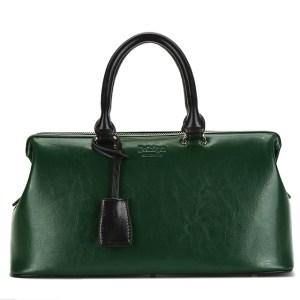 Купить Сумка-саквояж женская зеленая кожаная Bvlriga цена фото