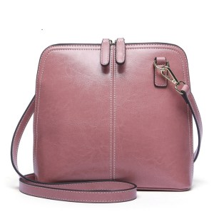 Купить Сумка-мессенджер женская розовая розового цвета кожаная Esufeir, crossbody фото цена