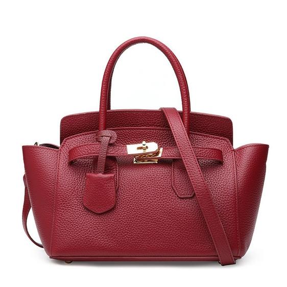7d3cda3cd186 Купить Сумка-трапеция женская бордового цвета кожаная Esufeir, fashion  trapeze цена фото