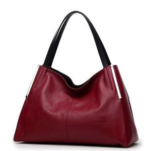 59759effeedf Сумка женская кожаная красного бордового цвета Laorentou, Classic City