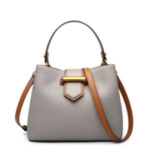 Купить Сумка женская кожаная серого цвета Laorentou, Fashion City цена фото