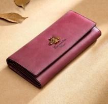 wallet Laorentou Classic purple 2