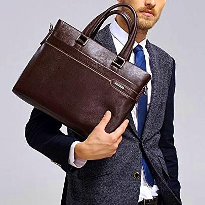 ad31be80185f Купить Портфель мужской кожаный коричневый для документов макбука ноутбука  Laorentou, Elegant Business фото цена Киев