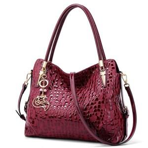 Купить Женская сумка красная бордовая натуральная кожа Foxer цена отзывы фото Киев Днепр Харьков Одесса Запорожье Украина